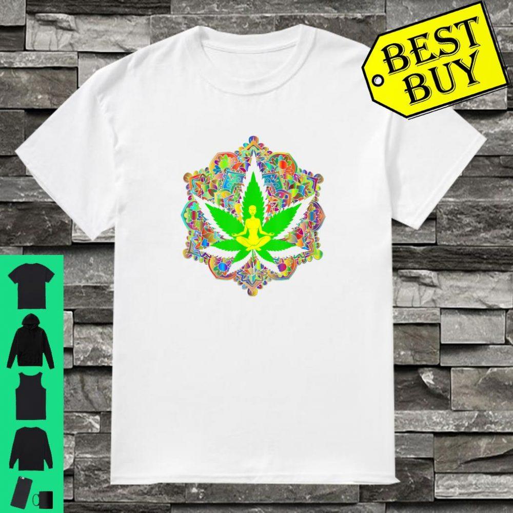 Yoga Meditation Lotus Spiritual Leaf Stoner Pot s Shirt