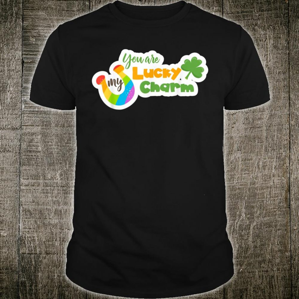 You`re My Lucky Charm with Green Clover & Rainbow Horseshoe Shirt