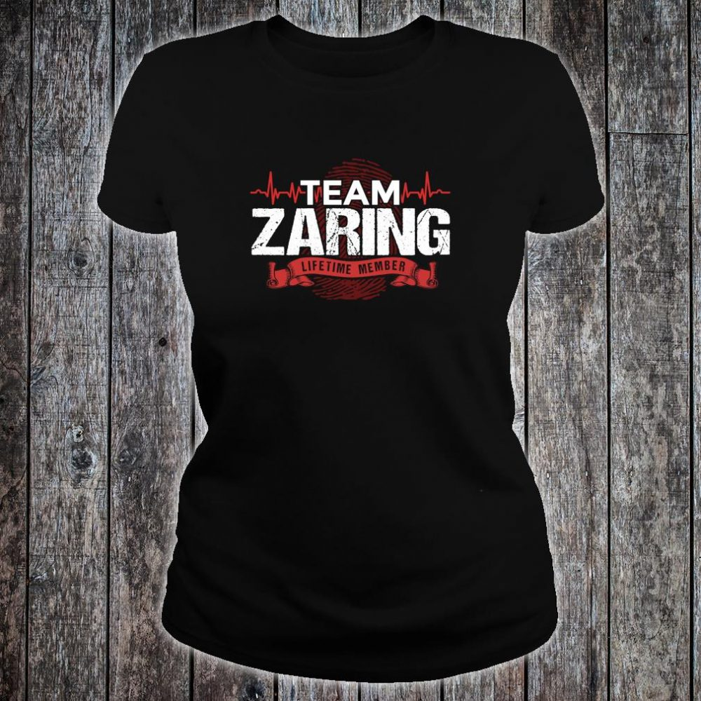 ZARING Family Reunions Member DNA Heartbeat Shirt ladies tee