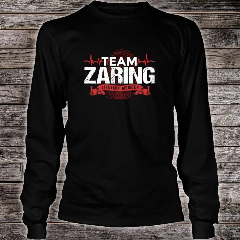 ZARING Family Reunions Member DNA Heartbeat Shirt long sleeved