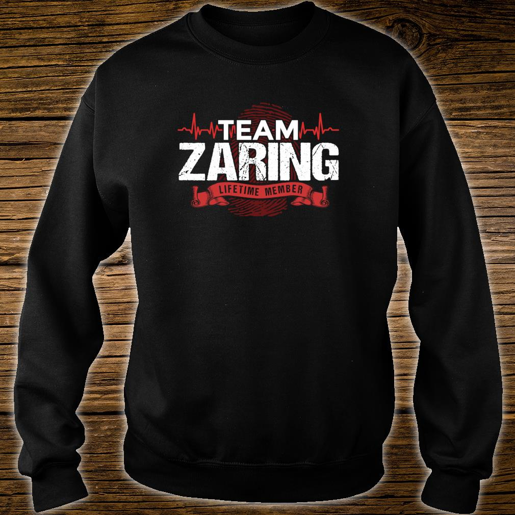 ZARING Family Reunions Member DNA Heartbeat Shirt sweater