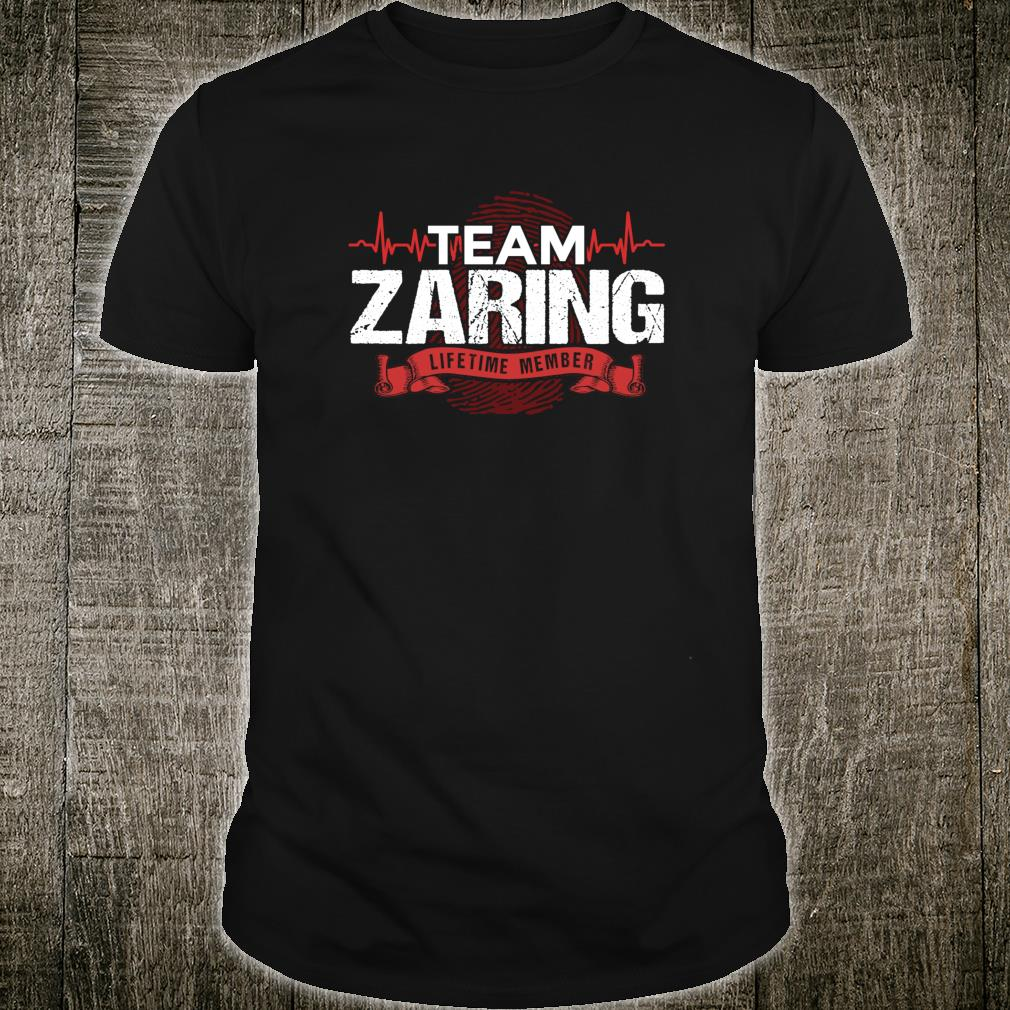 ZARING Family Reunions Member DNA Heartbeat Shirt