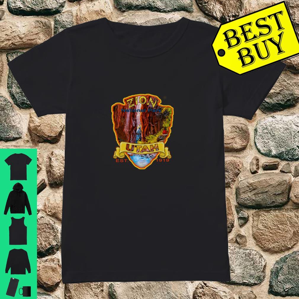 Zion National Park Utah Virgin River Narrows Canyon Souvenir Shirt ladies tee