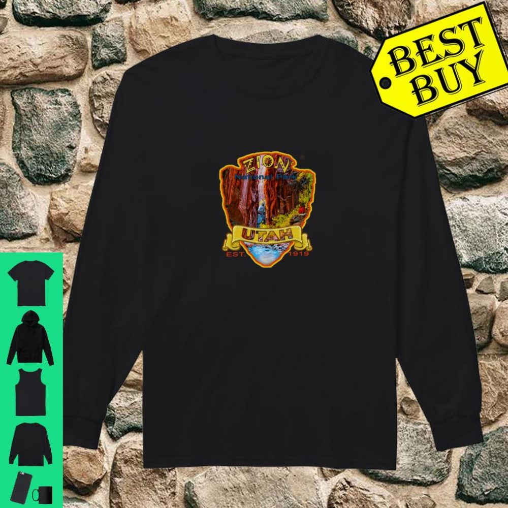 Zion National Park Utah Virgin River Narrows Canyon Souvenir Shirt long sleeved