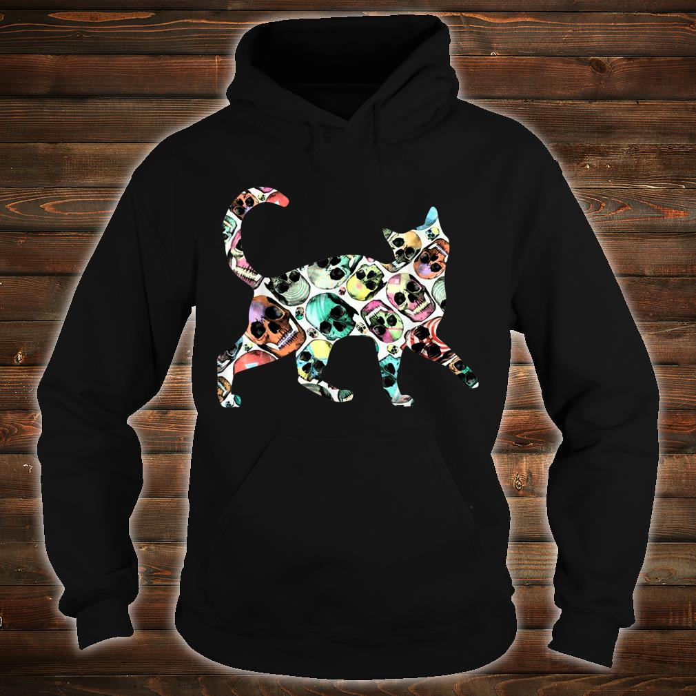 Zombie Cat Skull Halloween Cute Costume Shirt hoodie