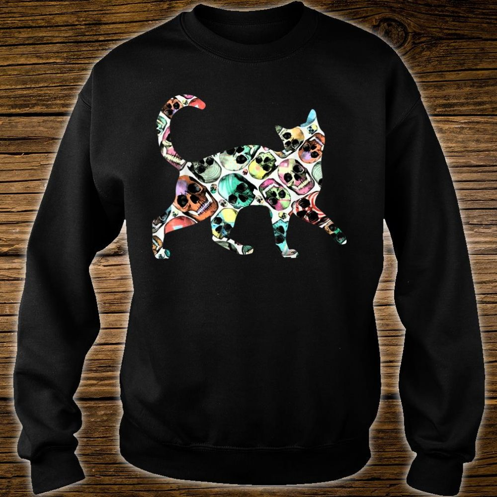 Zombie Cat Skull Halloween Cute Costume Shirt sweater