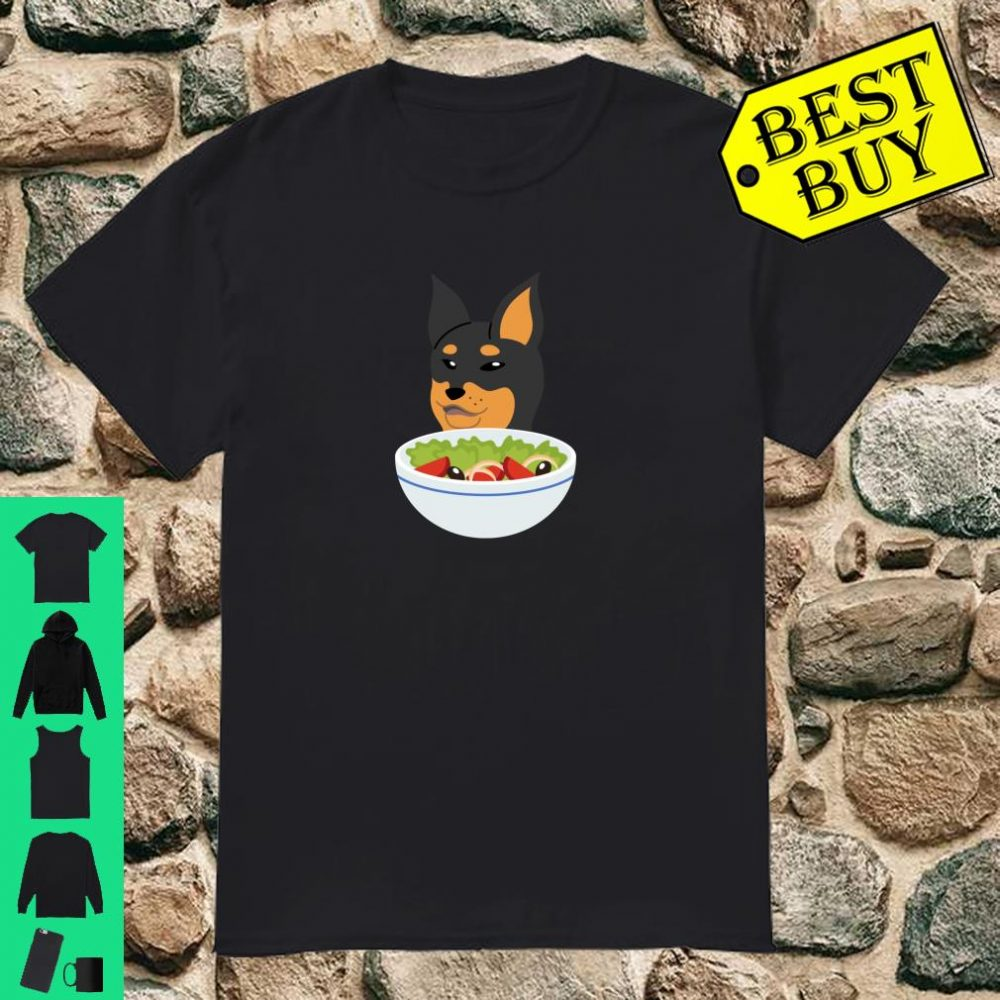 Zwergpinscher Cat Meme Lustiger Hund Geschenk Shirt